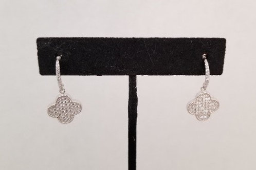 Clover Earrings Sterling Silver