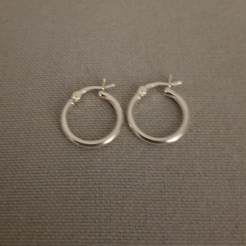 Small Hoops Sterling Silver