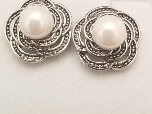 Faux Pearl Earring Studs