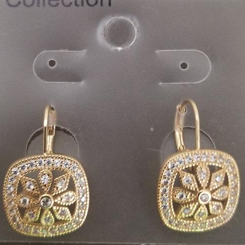 Square Flower Earrings