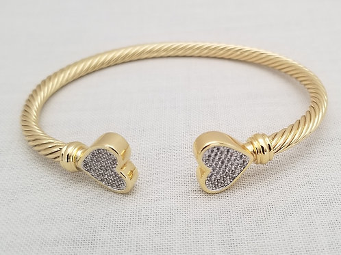 Twisted Gold Cable Bracelet