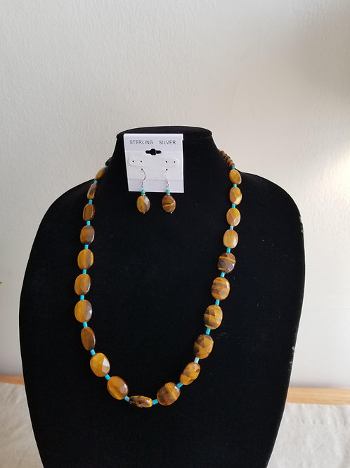 Tiger's Eye and Turquoise Set