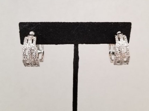 Earrings White Gold Plated