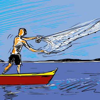 Série Arte & História - Jogando tarrafa na Laguna de Araruama - Yuri Vasconcellos