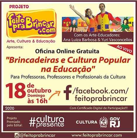 OFICINA ONLINE FEITO PRA BRINCAR - OUT 2