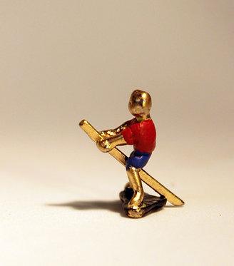 """Mini Escultura """"Cavalo de Pau"""" do artista Ivan Cruz - Brincadeiras de Criança"""