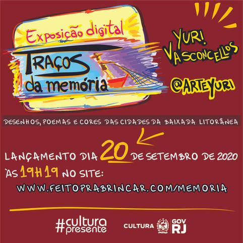 Exposição TRAÇOS DA MEMÓRIA - Yuri Vasconcellos