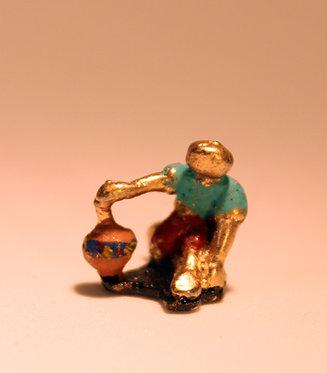 """Mini Escultura """"Pião Sonoro"""" do artista Ivan Cruz - Brincadeiras de Criança"""