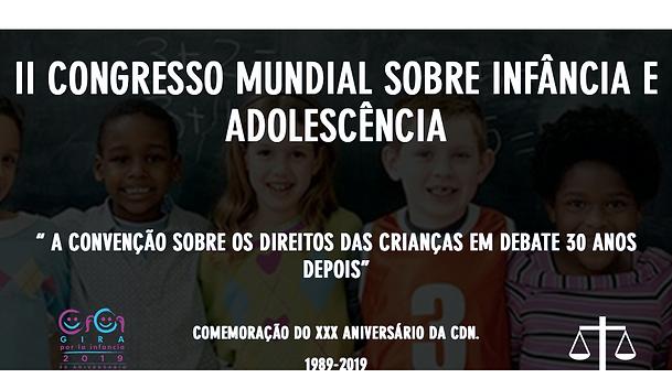 II CONGRESSO MUNDIAL SOBRE INFÂNCIA E AD