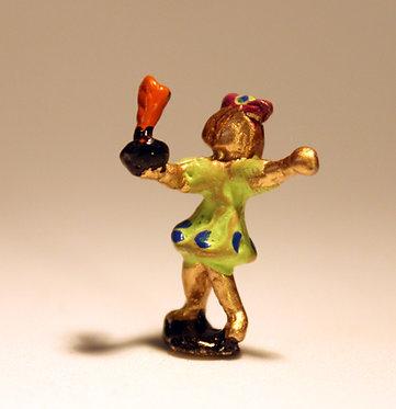 """Mini Escultura """"Peteca"""" do artista Ivan Cruz - Brincadeiras de Criança"""