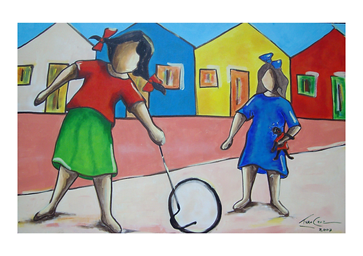 """Gravura """"Rodando Aro"""" - A4 - Por Ivan Cruz"""