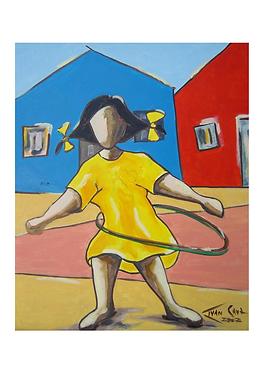 "Gravura ""Bambolê"" - A4 - Por Ivan Cruz"