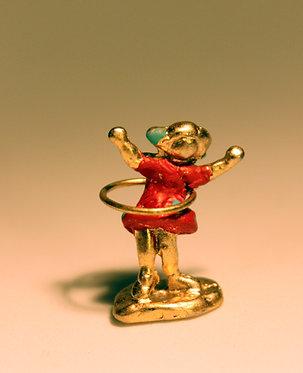 """Mini Escultura """"Bambolê"""" do artista Ivan Cruz - Brincadeiras de Criança"""