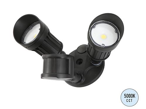 LED Security Light-2 HEAD W/Motion Sensor-Brown Finish