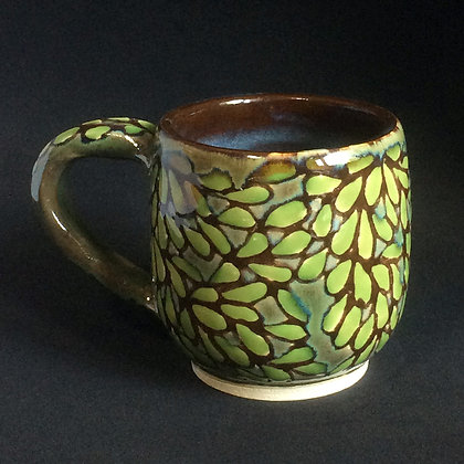 Brown, Olive & Pear Leaves Mug