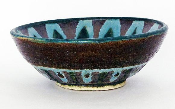 Peacock Pattern Bowl