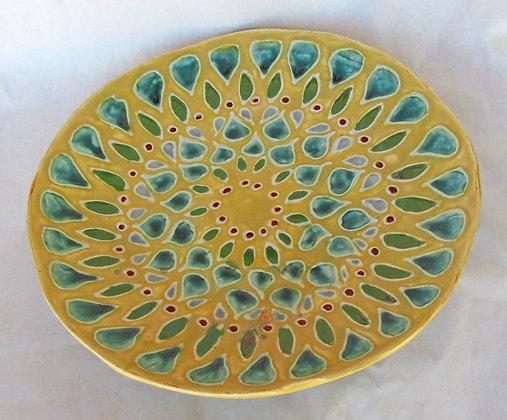 Alberta Yellow & Green Mandala Platter