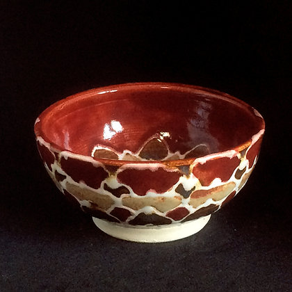 Red & Shino Mandala Small Bowl