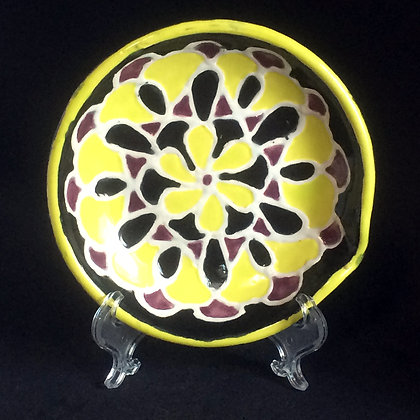 Yellow, Black & Purple Mandala Little Plate