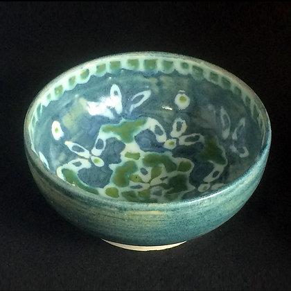 Antique Blue & Jade Mandala Small Bowl