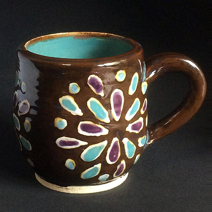 Iron & Jade Lotus Mug