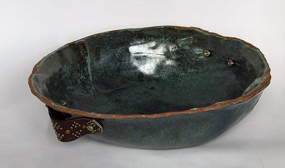 Large Redstone Teal Bowl