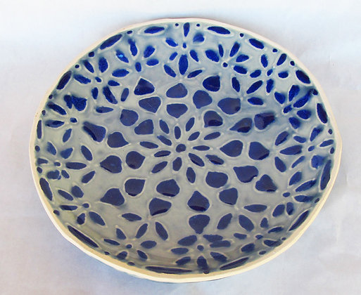 Stellar Blue Mandala Platter