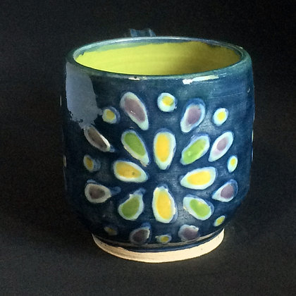 Blue, Pear & Purple Lotus Mug