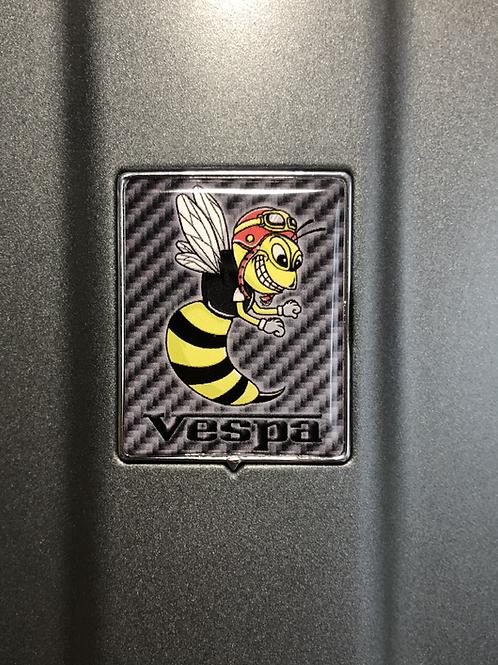 """Plakette für die Kaskade """"Crazy Wasp Carbon schwarz"""""""