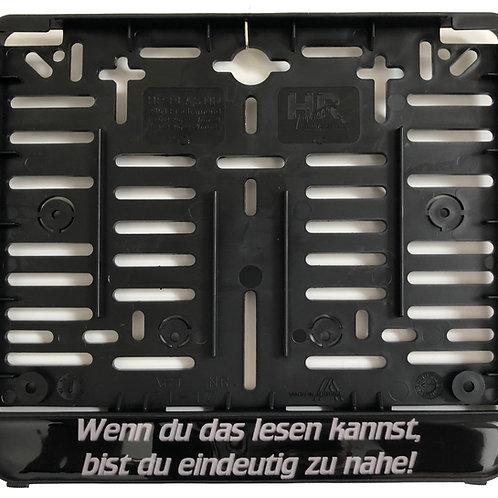 """Kennzeichenhalterung """"Wenn du .."""" (für österr. Kennzeichen!!)"""
