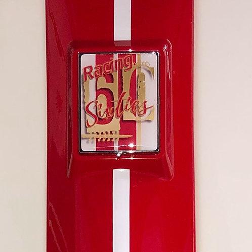 "Plakette für die Kaskade ""Racing Sixties white"""