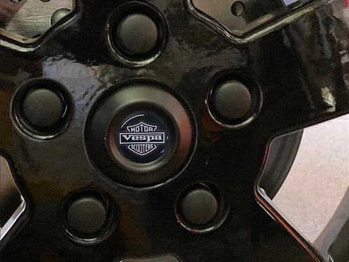 """Plaketten für die Radnabe """"Motor Vespa Scooters"""""""