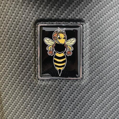 """Plakette für die Kaskade """"Bad Wasp Retro schwarz"""""""
