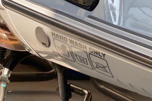"""Sticker """"Hand wash only""""  klein"""