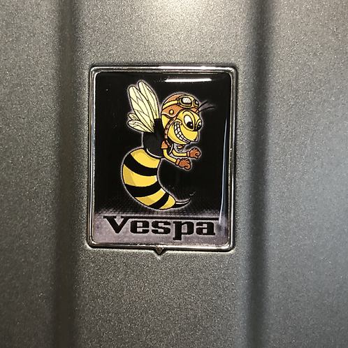 """Plakette für die Kaskade """"Crazy Wasp Retro schwarz"""""""