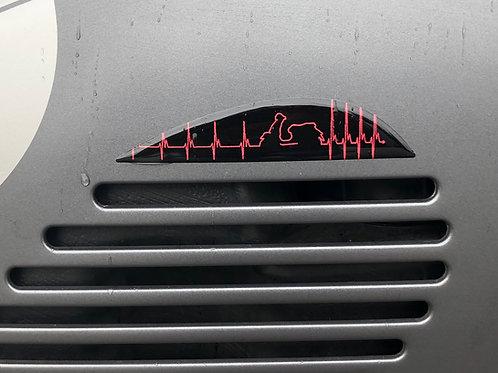 """Plakette Lüftungsgitter """"Heartbeat"""""""