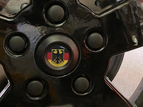 """Plakette für die Radnabe """"Deutschland"""""""
