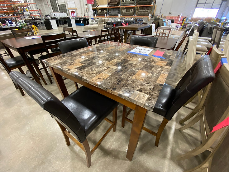 Ashley Theo Counter Height Table & 4 Chairs (STOCK SPECIAL)