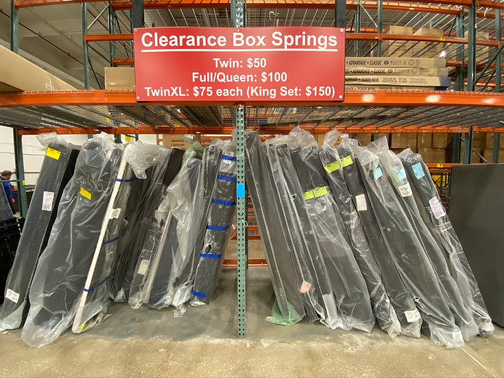 Assortment of Clearance Box Springs