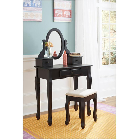 Ashley Huey Vineyard Vanity, Mirror & Stool