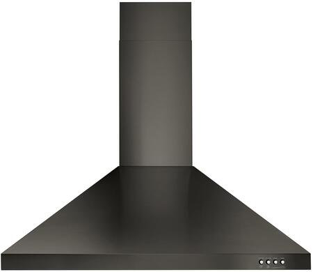 "Whirlpool 30"" Contemporary Wall Mount Range Hood Black SS- 41308"