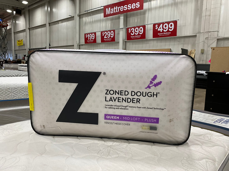 Malouf Zoned Dough Lavender Queen Pillow- 87375