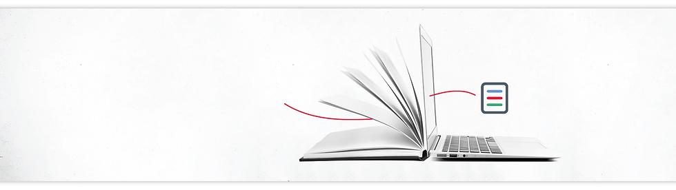 Digital book on laptop image