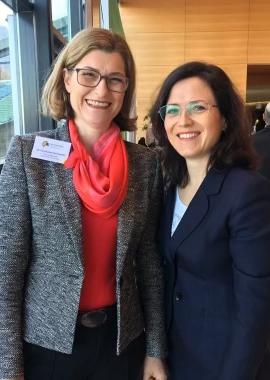 Dr. Constanze Holzwarth mit Dr. Julia Duwe, 2018