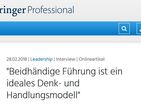 Interview with Springer Professional on Ambidextrous Leadership