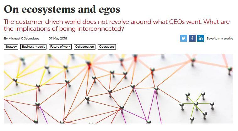 Ecosystems Ökosysteme Plattformökonomie Julia Duwe