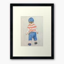 On A Mission Framed Art Print