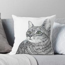 Cat 2018 Throw Pillow