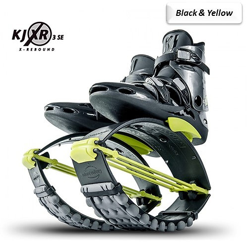Black & Yellow - Kangoo Jumps Rebound Boots