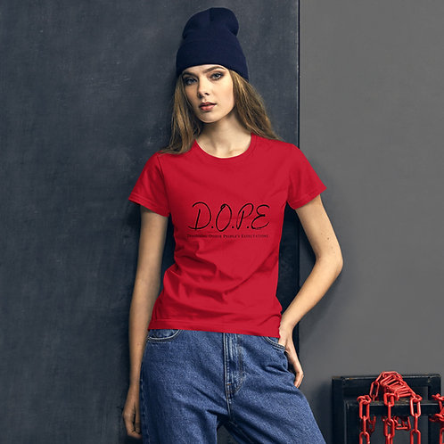Women's short sleeve D.O.P.E. t-shirt